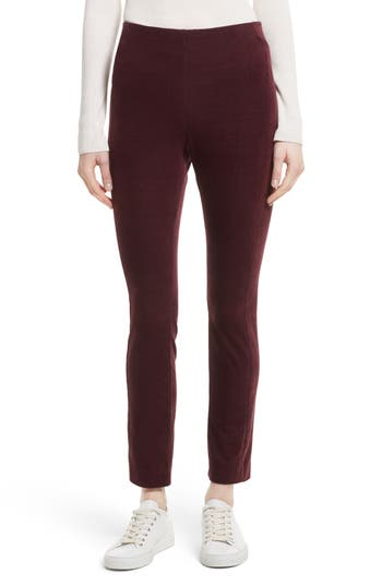 Theory Navalane Velvet High Waist Ankle Pants