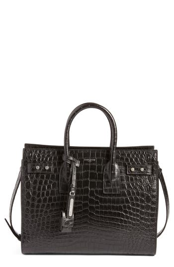Small Sac De Jour Embossed Calfskin Satchel by Saint Laurent