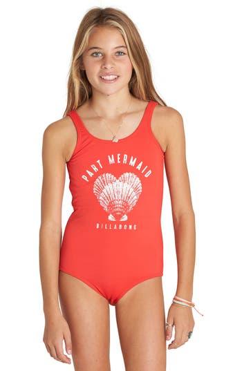 Billabong Sol Searcher One-Piece Swimsuit (Little Girls ...