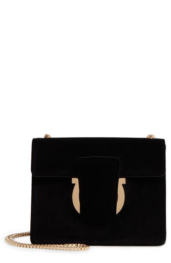 Salvatore Ferragamo Small Velvet Crossbody Bag