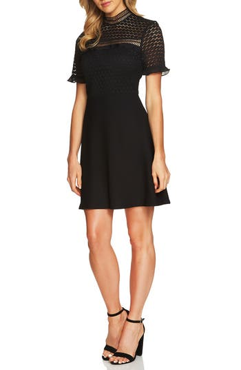 Cece Lillian Lace Fit & Flare Dress