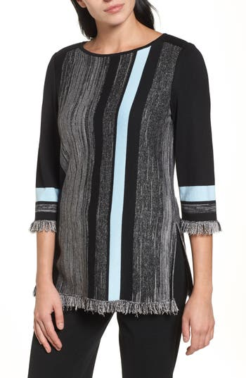Ming Wang Fringe Trim Knit..