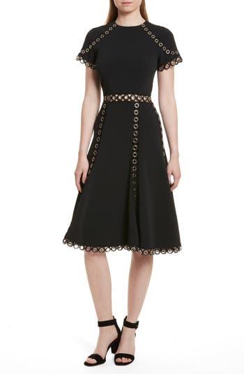 Jonathan Simkhai Grommet Fit & Flare Dress