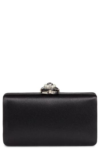 Nordstrom Crystal Imitation Pearl Clasp Box Clutch
