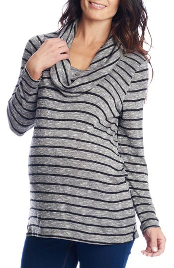 Everly Grey Reina Cowl Neck Maternity/Nursing Top