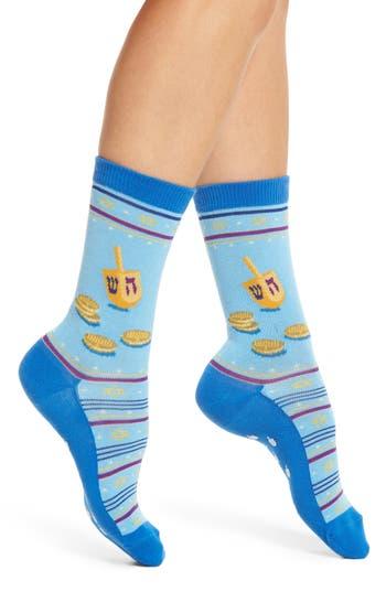 Hot Sox Dreidel & Gelt Nonskid Socks (3 for $15)