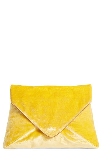 Dries Van Noten Velvet Envelope Clutch