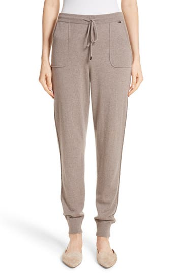 St. John Collection Cashmere Jersey Knit Crop Pants