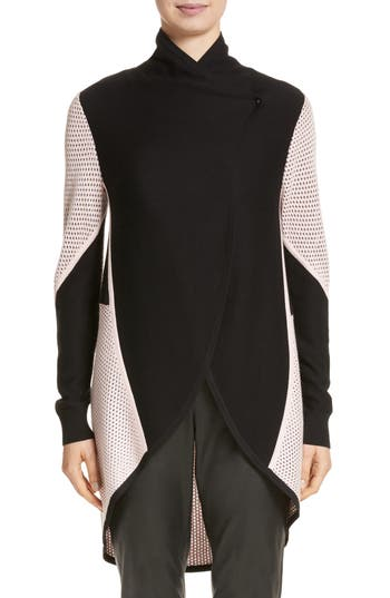 St. John Collection Mesh Knit Cardigan