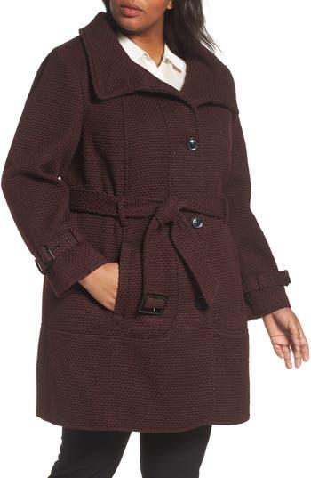 Gallery Waffle Woven Coat (Plus Size)