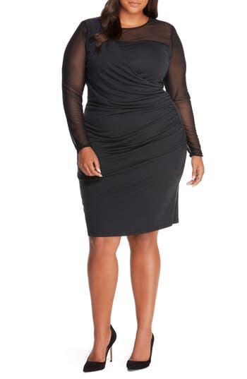 REBEL WILSON X ANGELS Faux Wrap Dress (Plus Size)