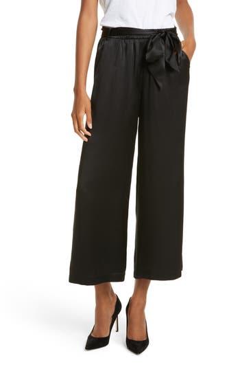 FRAME Tie Waist Crop Silk Pants