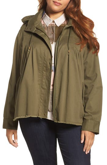 Lucky Brand Raw Edge Utility Jacket (Plus Size)
