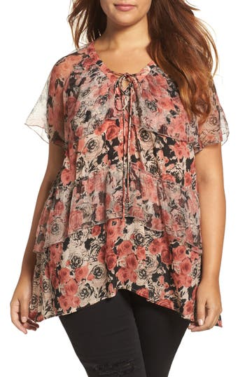 Lucky Brand Ruffle Rose To..