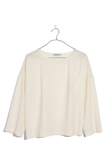 Madewell Button Shoulder Crepe Top