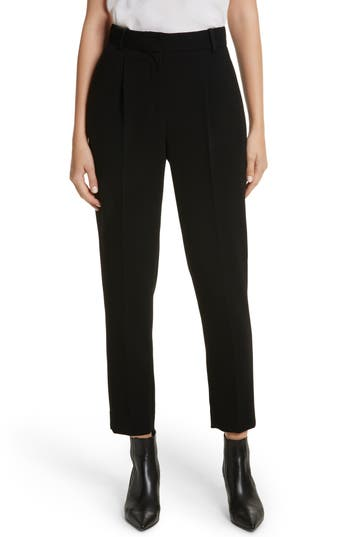 Rebecca Taylor Pleated Crepe Crop Pants