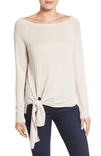 Halogen® Tie-Front Sweater