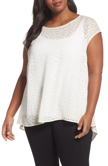 Eileen Fisher Cutwork Silk..