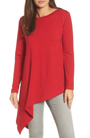 Halogen® Boatneck Asymmetrical Tunic