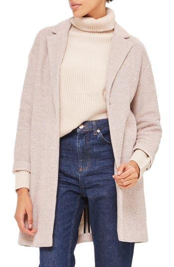 Topshop Textured Knit Coat