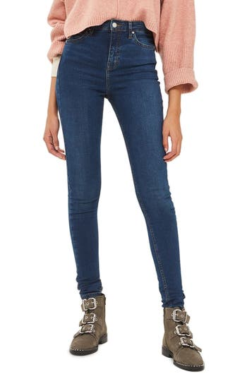 Topshop Jamie High Waist Ankle Skinny Jeans (Tall)