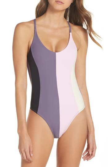 PilyQ Farrah Colorblock One-Piece Swimsuit