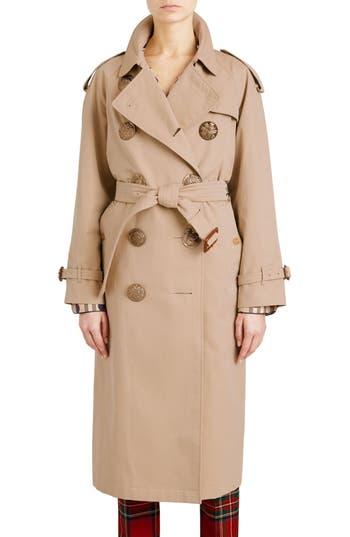 Burberry Eastheath Bird Button Cotton Trench Coat