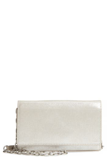 Avery Metallic Leather Wallet On A Chain by Treasure & Bond