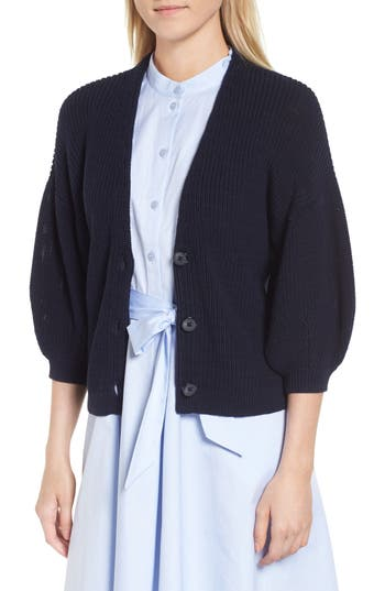 V Neck Cotton Cardigan by Nordstrom Signature