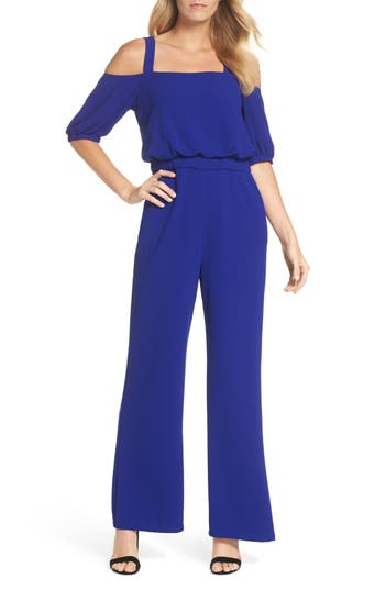 Cold Shoulder Blouson Jumpsuit by Vince Camuto
