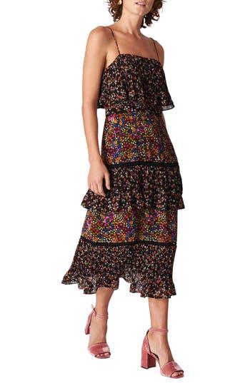 Skylar Peony Print Tiered Dress by Whistles