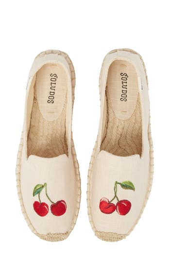 Cherries Embroidered Espadrille by Soludos