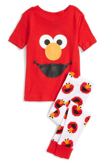 Sesame Street 174 Elmo Fitted Two Piece Pajamas Toddler Boys