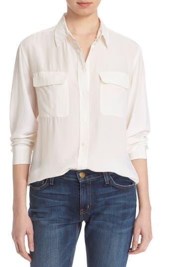 Equipment 39 signature 39 silk shirt in bright white modesens for Equipment signature silk shirt