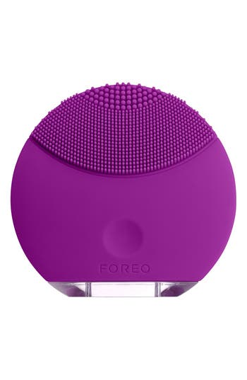 LUNA<sup>™</sup> mini Compact Facial Cleansing Device,                             Main thumbnail 1, color,                             Purple