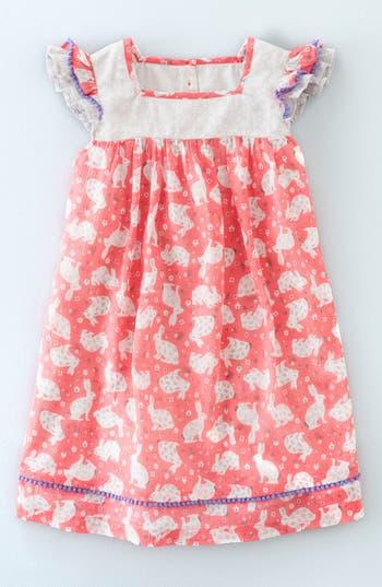 Mini Boden Crinkle Hotchpotch Cotton Dress Toddler