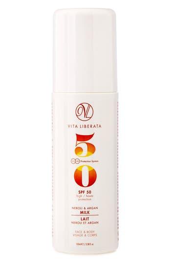 Neroli & Argan Milk for Face & Body SPF 50,                             Main thumbnail 1, color,                             No Color