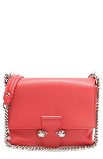Alexander McQueen 'Medium Twin Skull' Flap Shoulder Bag