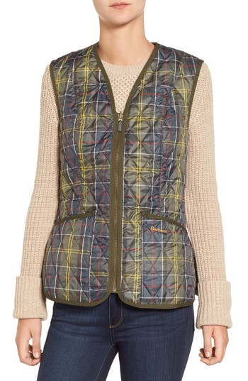 Barbour 'Betty' Tartan Print Quilted Liner