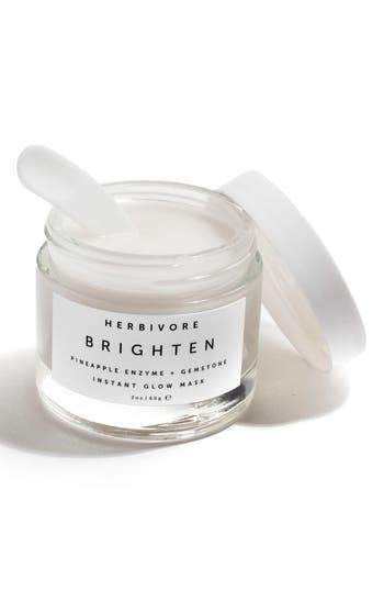 Alternate Image 3  - Herbivore Botanicals Brighten Pineapple Enzyme + Gemstone Instant Glow Mask