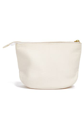 Alternate Image 2  - Nordstrom at Home Monogram Zip Top Pouch
