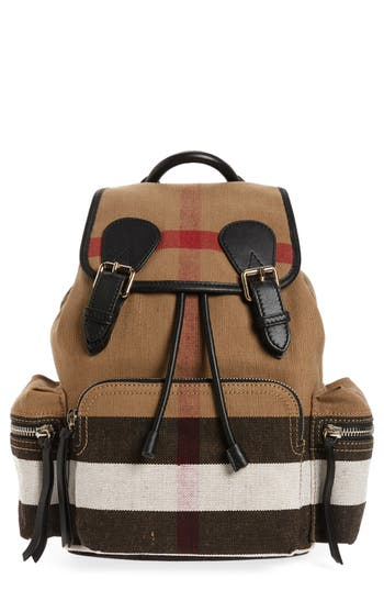 Burberry Medium Canvas Backpack