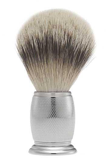 Engraved Nickel-Plated Silvertip Shaving Brush,                         Main,                         color,