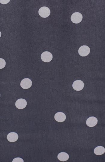 Dot Chiffon Top,                             Alternate thumbnail 3, color,                             Navy Grey Dot