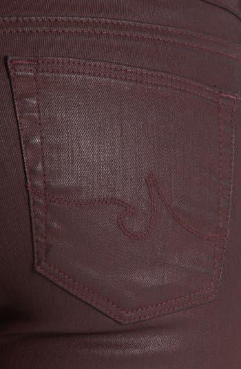 Alternate Image 3  - AG 'The Absolute Legging' Coated Skinny Jeans (Brave)