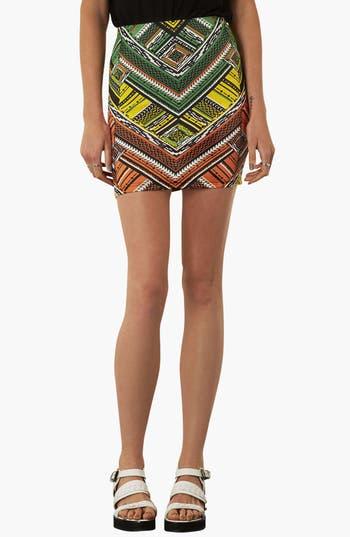 Alternate Image 1 Selected - Topshop Print Jersey Miniskirt