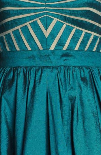 Alternate Image 3  - Aidan Mattox Strapless Taffeta Fit & Flare Dress (Online Only)