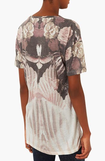 Alternate Image 2  - Topshop Dove & Flower Graphic Tee