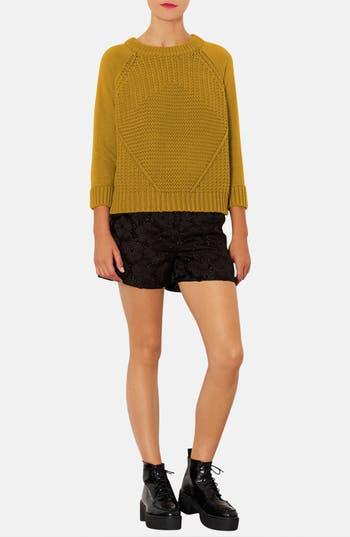 Alternate Image 5  - Topshop Textured Floral Shorts