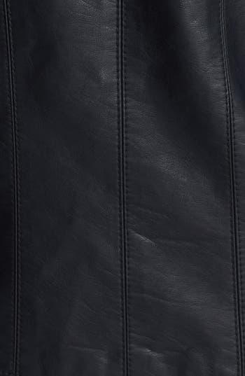 Alternate Image 3  - Jou Jou Ruched Faux Leather Jacket (Juniors)